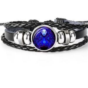 Leather Virgo Zodiac bracelet